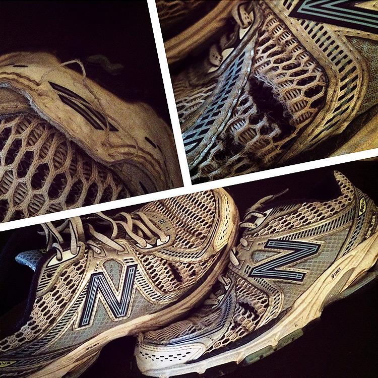Chaussures New Balance usées