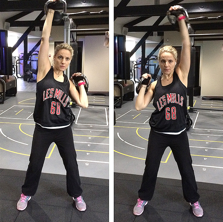 Entrainement exercice de musculation Kettlebell