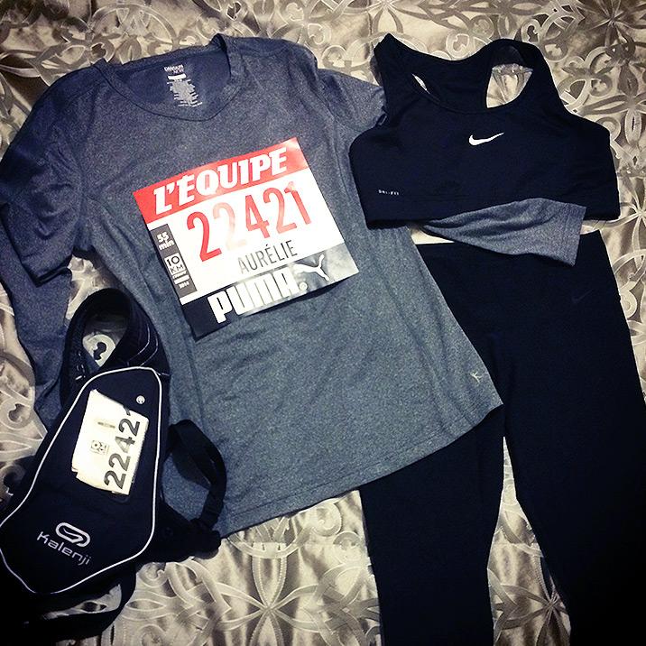 Tout mon équipement pour ma course des 10Km !